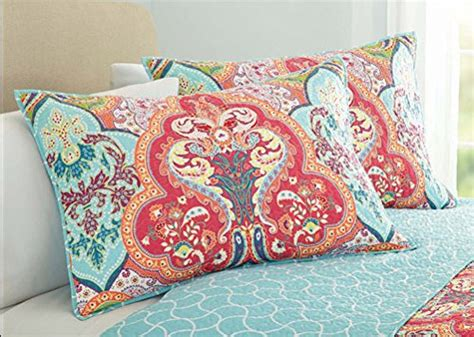 Turquoise & Coral Tropical Beach Quilt Set