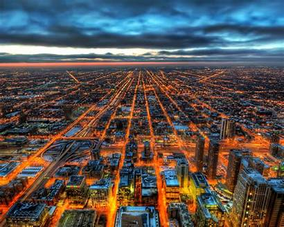 Hdr Chicago 4k Wallpapers Backgrounds Resolution Night
