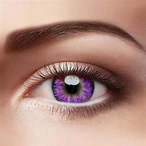 Mystery Purple Colored Contact Lenses – Eyemi