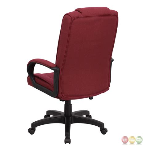 high back burgundy fabric executive office chair go 5301b
