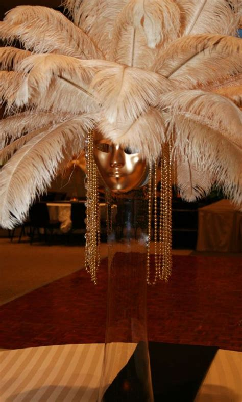 mask table decorations mask feather bead centerpiece for masquerade show