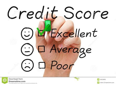Excellent Credit Score Stock Photography  Image 34523802