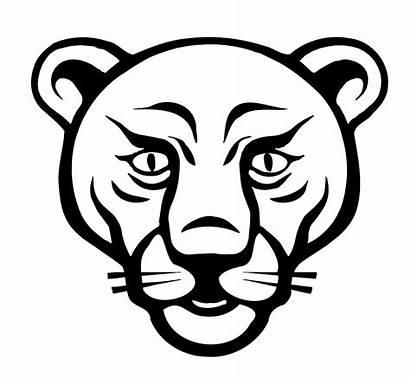 Lion Face Clipart Line Clip Coloring Animal