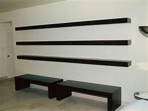 Custom Floating Shelves by Ezequiel Rotstain Design