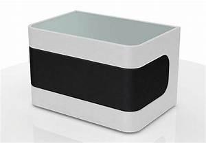 Nachttisch Weiß Glas : nachtkonsole nighty nachttisch in wei und schwarz mit glas eur 119 00 picclick de ~ Indierocktalk.com Haus und Dekorationen