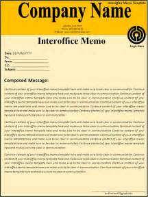 Inter Office Memo Template