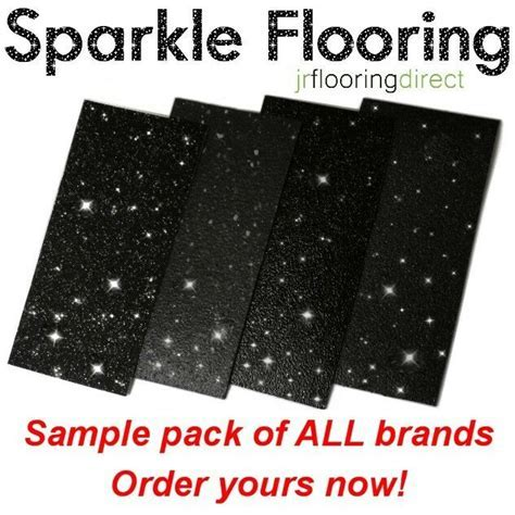 SAMPLES   Black Sparkly Flooring / Glitter Effect Vinyl