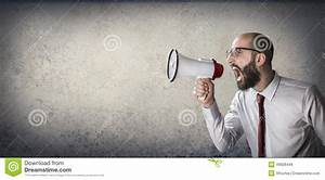 Announcement With Megaphone Stock Photo - Image: 49928449