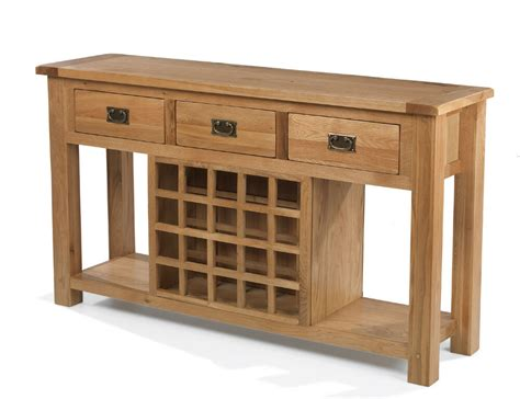 Wine Sideboard by Aylesbury Rustic Solid Oak Large Sideboard With Wine Rack