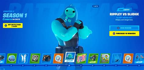 fortnite  battle pass skins rippley  sludge  ball