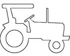 tractor template to print tractor stencil pencil and in color tractor stencil