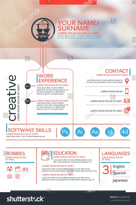 vector resume template cv brochure layout magazine