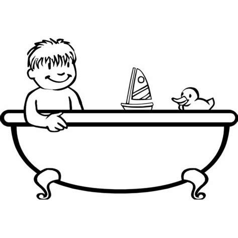 Vasche Per Bambini Disegno Di Bagnetto In Vasca Da Colorare Per Bambini