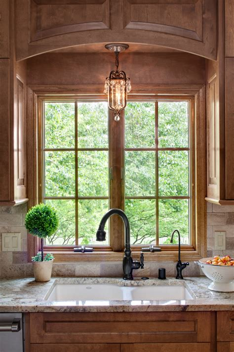 bay window cornice kitchen sink lighting ideas homesfeed