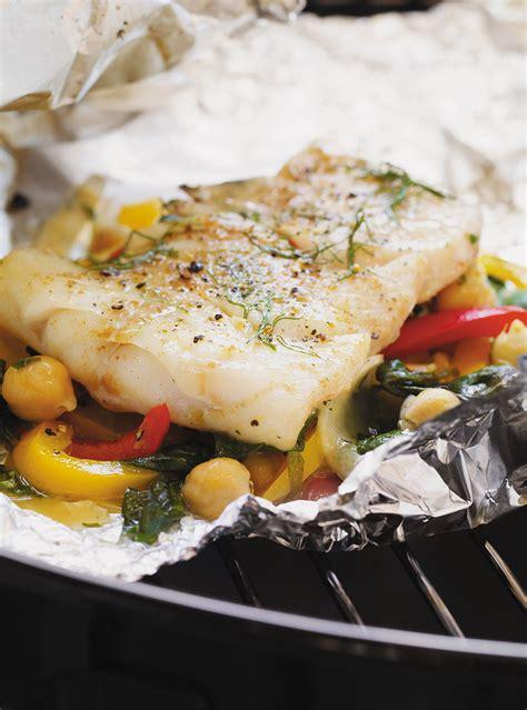 ricardo cuisine mijoteuse papillotes de poisson aux légumes et aux pois chiches