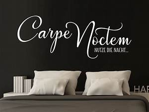Wandtattoo Carpe Noctem : wandtattoo carpe noctem von klebeheld de ~ Sanjose-hotels-ca.com Haus und Dekorationen