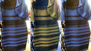 Blue and Gold Dress Black or White