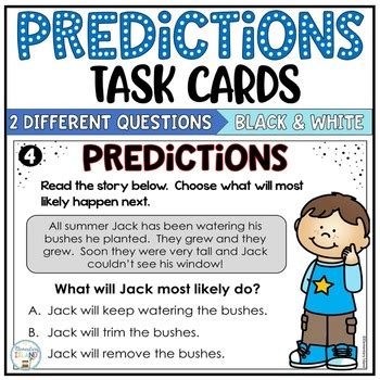 Making Predictions Task Cards by Elementary Island | TpT