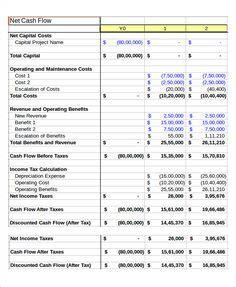 year cash flow projection excel cash flow statement