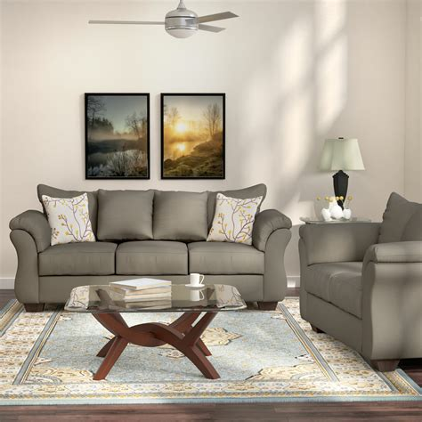 andover mills chisolm  piece living room set reviews