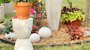 DIY Concrete Garden Ornaments - YouTube