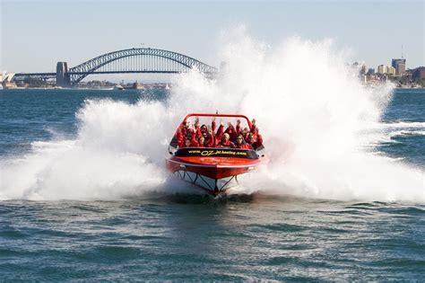 Jet Boat Circular Quay by Oz Jet Boating Iventure Card Sydney