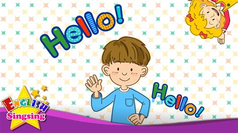 Hello (Character introduction) - Kids English song - Sing ...