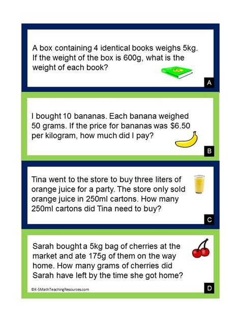 grade measurement  data math word problems math
