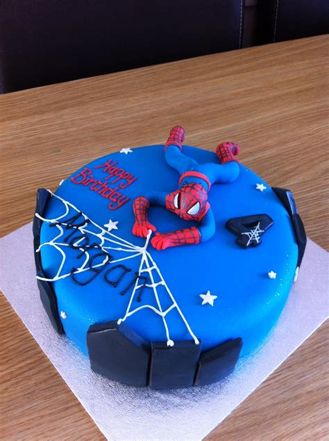 caked  icing spiderman cake