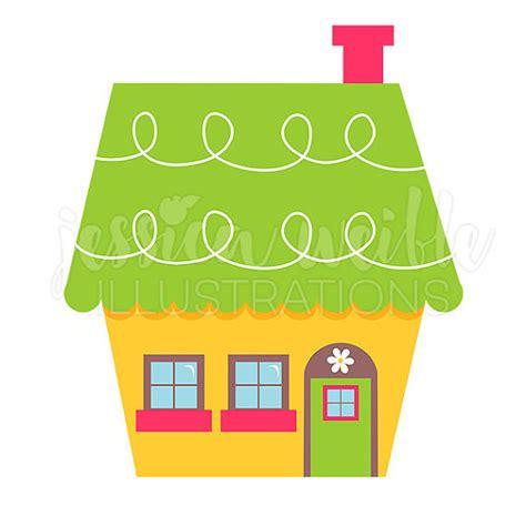 Cute Little Yellow House Digital Clipart Home Clip Art Cute