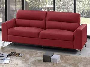 canape cuir rouge pas cher canape d39angle canape 3 places With tapis yoga avec canapé chesterfield simili cuir