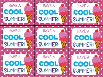 year gift tag   cool summer  highs