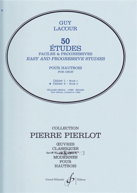 0043006094 etudes faciles et progressives volume oboe studies oboe sheet music