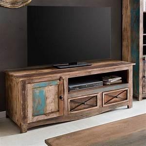 Lowboard 140 Cm Breit : tv lowboard largo 140cm breit aus massivholz im vintage look ~ Bigdaddyawards.com Haus und Dekorationen