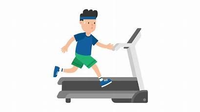 Exercise Treadmill Clipart Running Machine Animated Cartoon