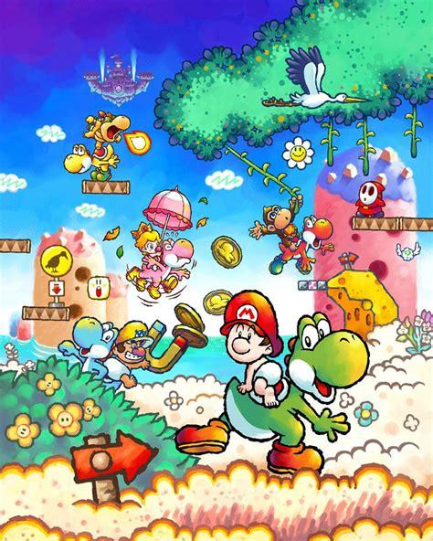 Yoshis Island Ds Promotional Illustration Super Mario