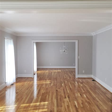hardwood floors with grey walls bethany mitchell homes hardwood floors natural light grey walls living family rooms
