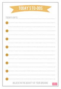 Downloadable to Do List Printable