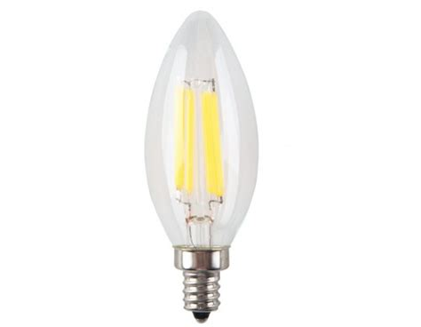 6 pack 6w non dimmable led filament candle light bulb