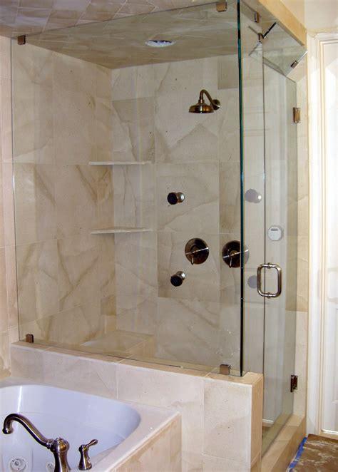 shower  partial wall modernize  bathroom