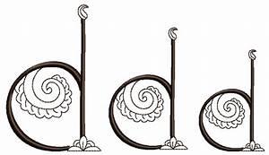 Mehndi Style Font - Letter D
