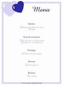 Modele De Menu A Imprimer Gratuit : menu de f te gratuit imprimer coeurs bleus a ~ Melissatoandfro.com Idées de Décoration