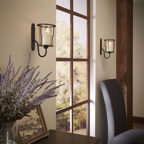 candle wall sconce wall mounted metal sconces glass candle holders