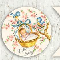 free vintage baby shower printable collection free