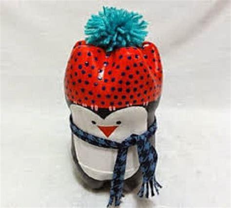 membuat pajangan boneka pinguin  botol soda bekas zona kreatif