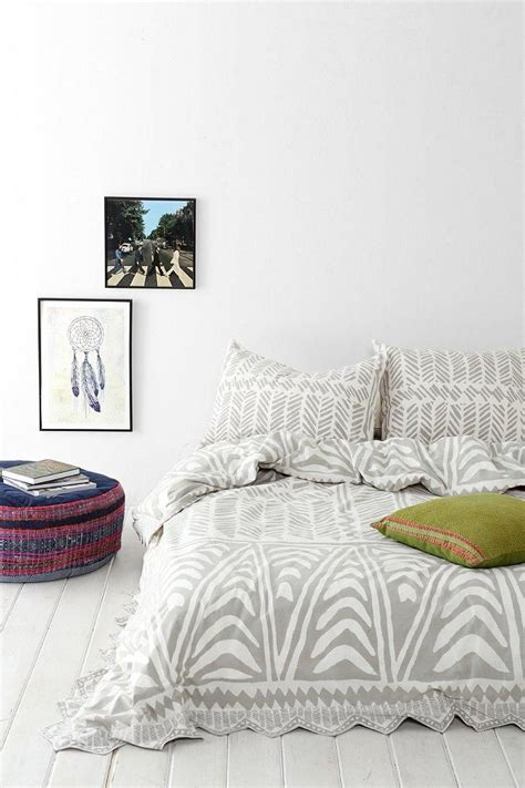 magical thinking hand drawn geo duvet cover urban