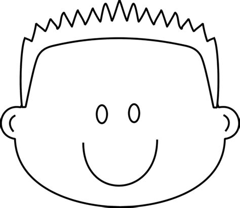 boy happy face  spiky hair coloring page greatest