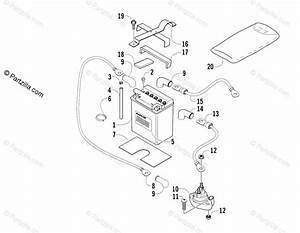 Arctic Cat Atv 2004 Oem Parts Diagram For Battery And