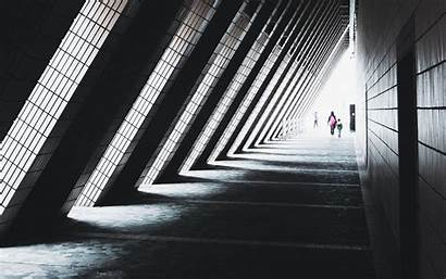 Architecture Triangular Tunnel Background Silhouettes 1920 Wallpapers