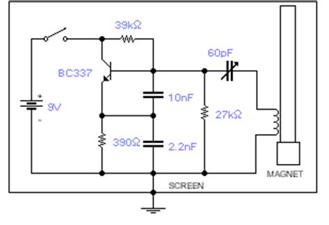 how to build geomagnetic field detector circuit diagram
